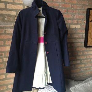 navy blue J Crew Coat